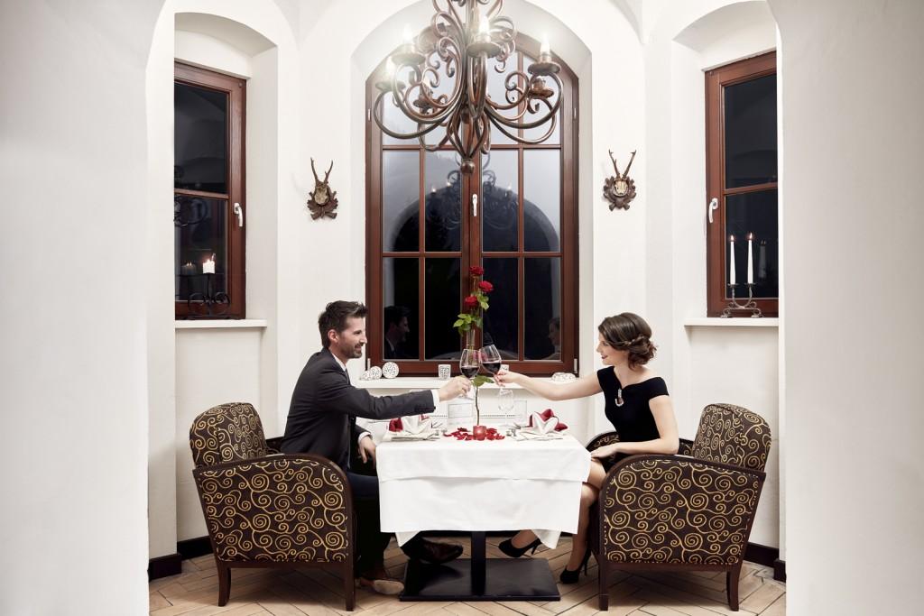 Romantikdinner im Schloss Kassegg
